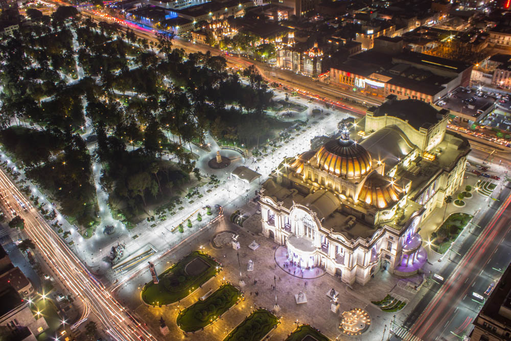 Mexico City in the night