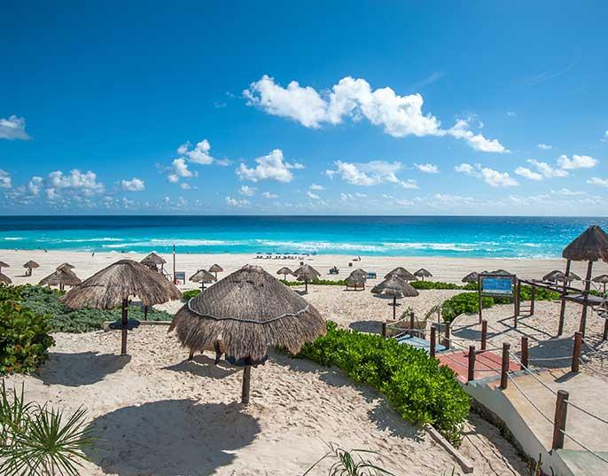 Sunny beach in Tampico, Mexico.