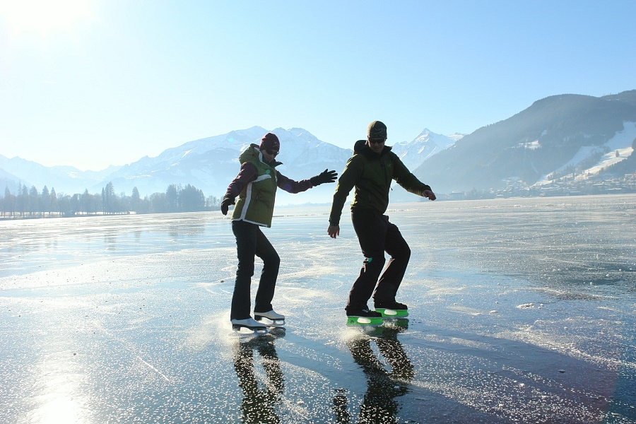 Ice- skating on Bajkal Lake