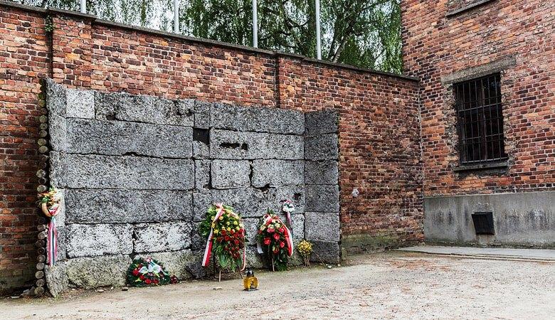 Auschwitz death wall